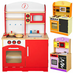 Cocina-de-madera-de-juguete-para-ninos-juguete-juego-de-rol-toy-NUEVO