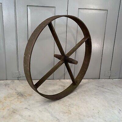 Antique cast iron wheelbarrow wheel