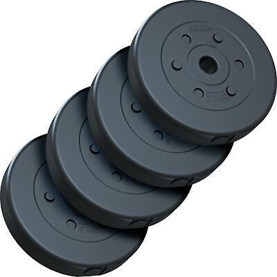 ScSPORTS® 20 kg Hantelscheiben Set 4 x 5 kg Hantel Gewichte 30 mm Kunststoff