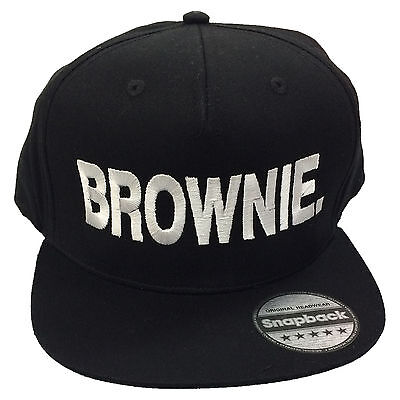 Brownie Embroidered Rapper Cap - Flat Peak Hipster Hair Snapback Fashion Hat](Rapper Hair)
