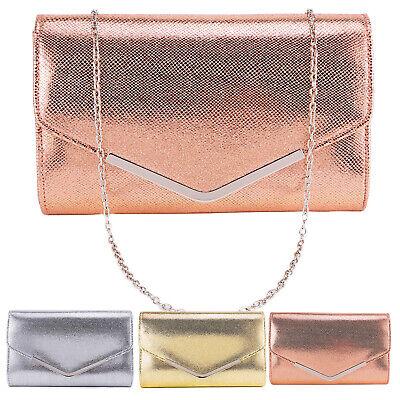 Silver Metal Bar Flap Lozenge Pattern Women Clutch Bag Envelope Handbag (Pattern Clutch Bag)