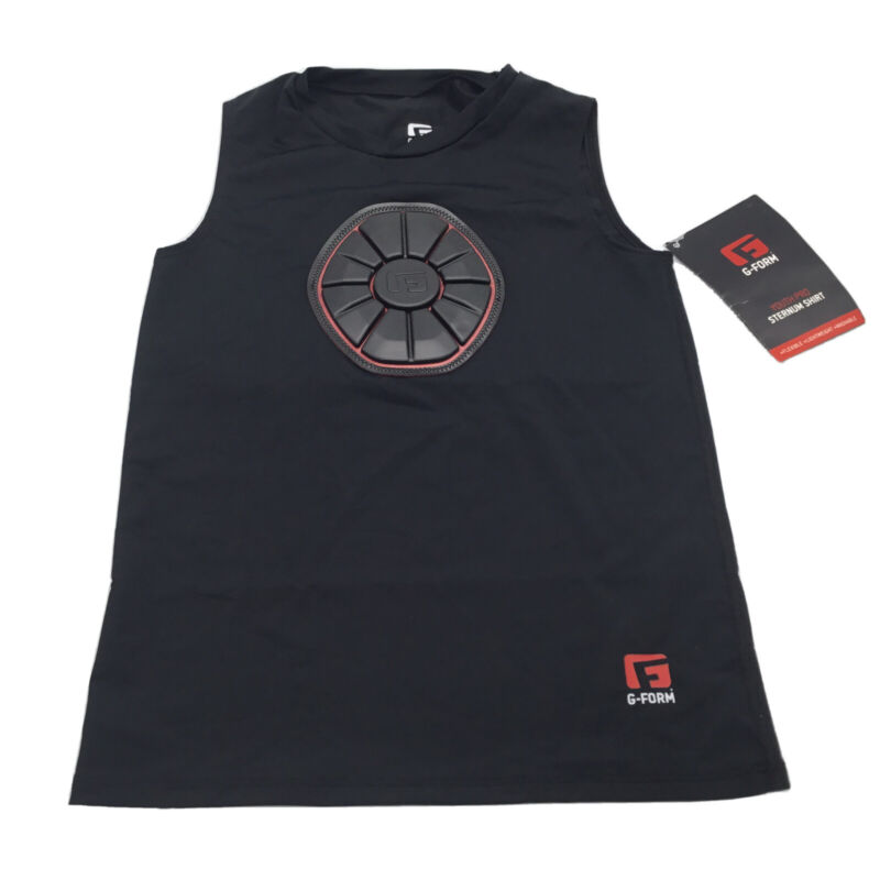 G-Form Baseball Shirt Boys Pro Sternum Black Sleeveless Youth Medium