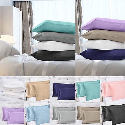 50% OFF - Luxury Satin Pillowcase 2 Pack Pillow Cases Covers Envelope Closure US (Envelope Pillowcases)