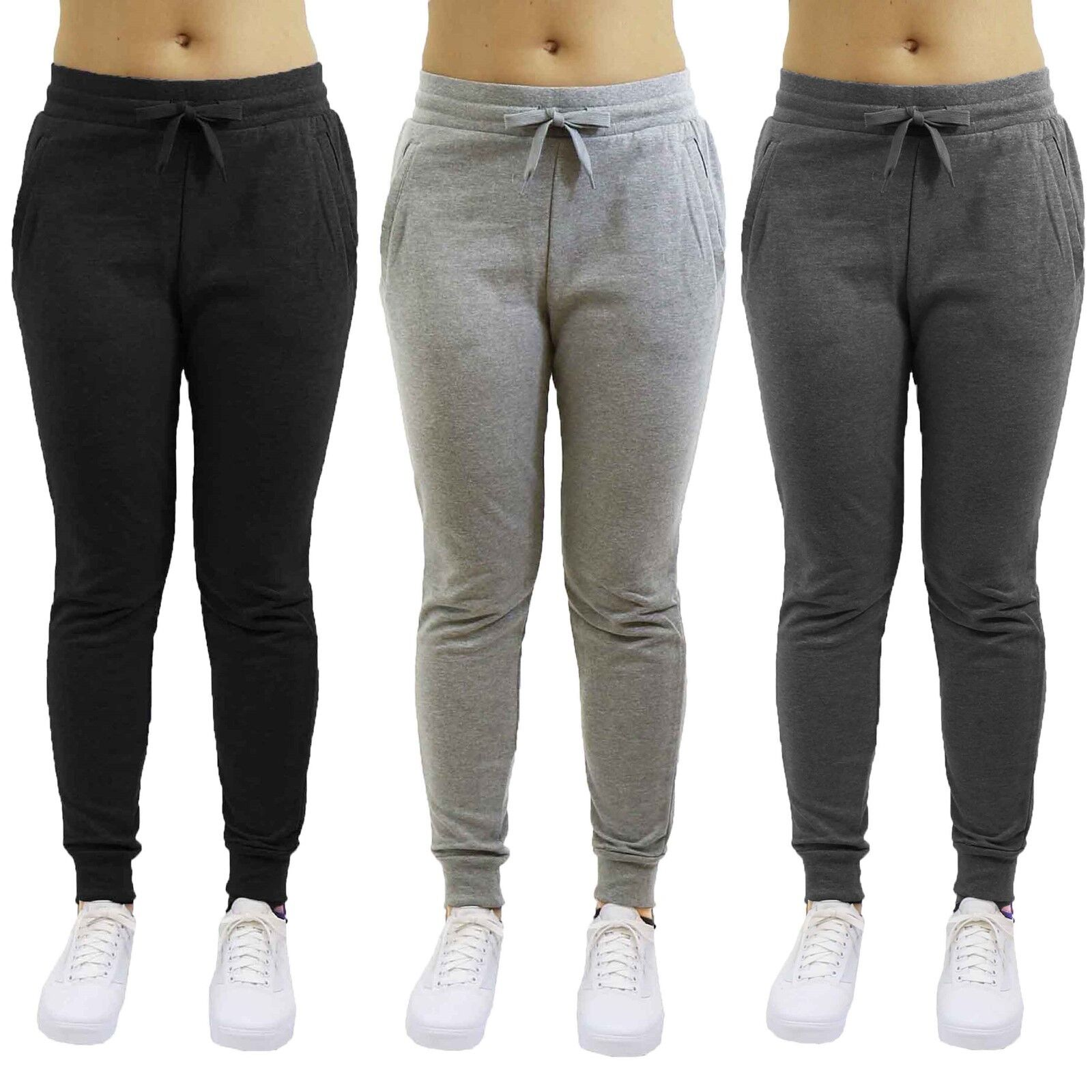 Womens French Terry Jogger Sweatpants Slim-Fit Lounge Gym Sports Yoga NEW Clothing, Shoes & Accessories