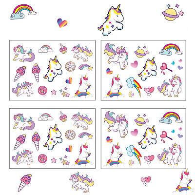 Einhorn Sticker farbenfrohe selbstklebende Aufkleber Unicorn Kinder Geburtstag