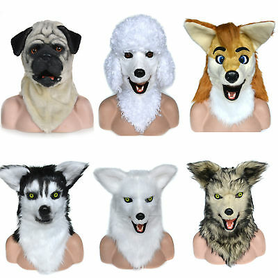 Animal Masks (Christmas Animated Animal Masks Moving Mouth Cosplay Costume Props Wearing)