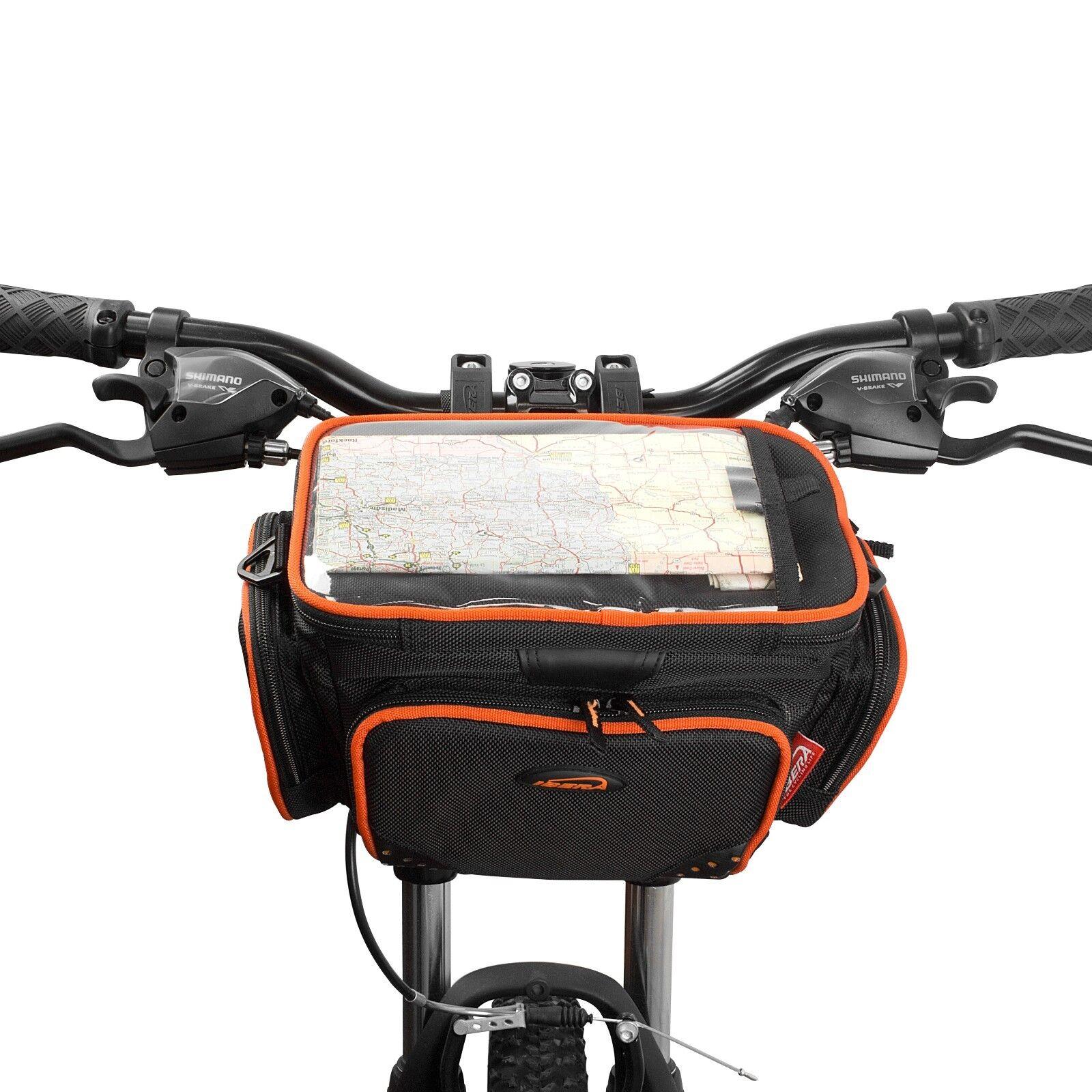 Ibera Bike Handlebar Bag Clear Map Sleeve Cycling Front Fram
