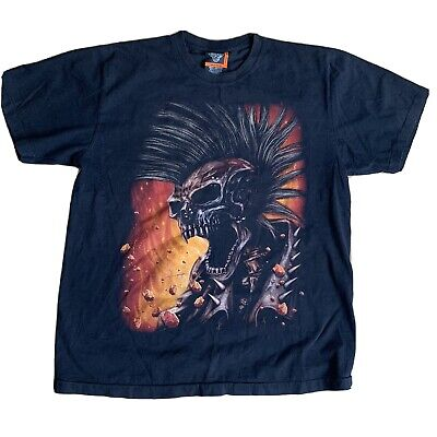 Rock Eagle Double Sided graphic T-shirt XL Ghost Rider Skull Motorcycle VTG
