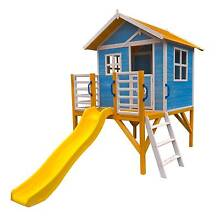 Kids Outdoor Timber Above Ground Wooden Cubby House with Slide Perth CBD Perth City Preview