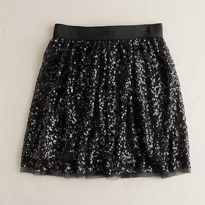 Nwt   J Crew   Starry Night Sequin Mini Skirt   Size 0  Black   118