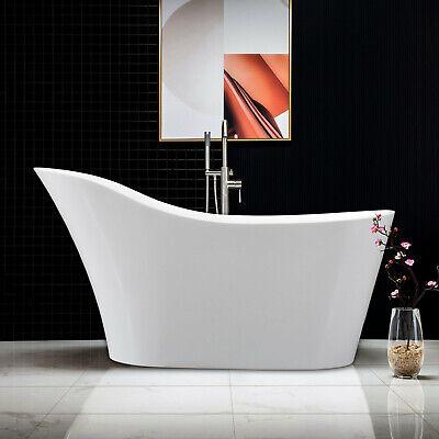 Woodbridge 59''  Freestanding Bathtub B-0029 with Chrome overflow& drain