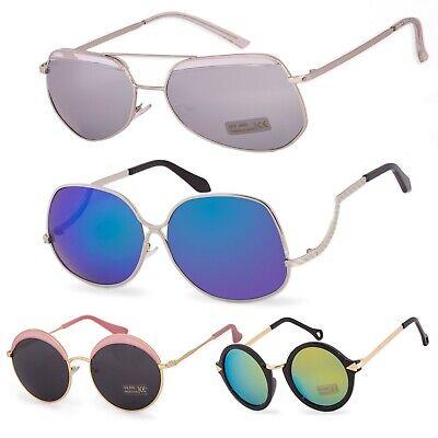 Damen Sonnenbrillen Mode Rund Stern Spiegel Brillen Quadrat, Cat Eye UV400