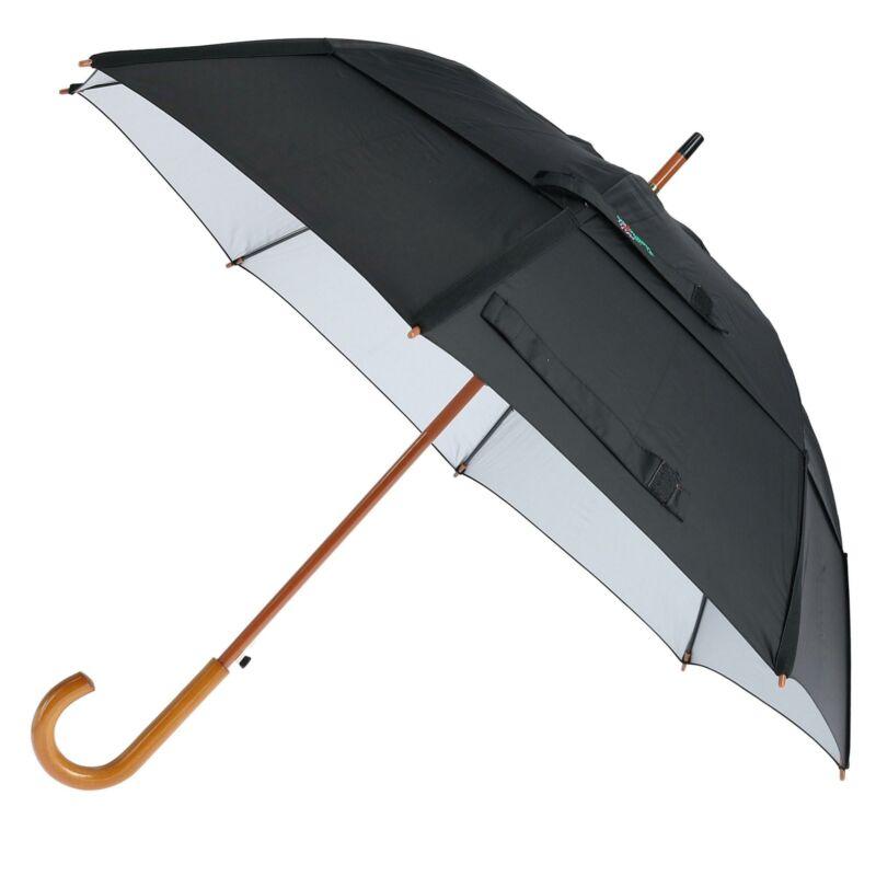 New GustBuster Classic SunBLOK Auto Open UV Protected Vented Stick Umbrella