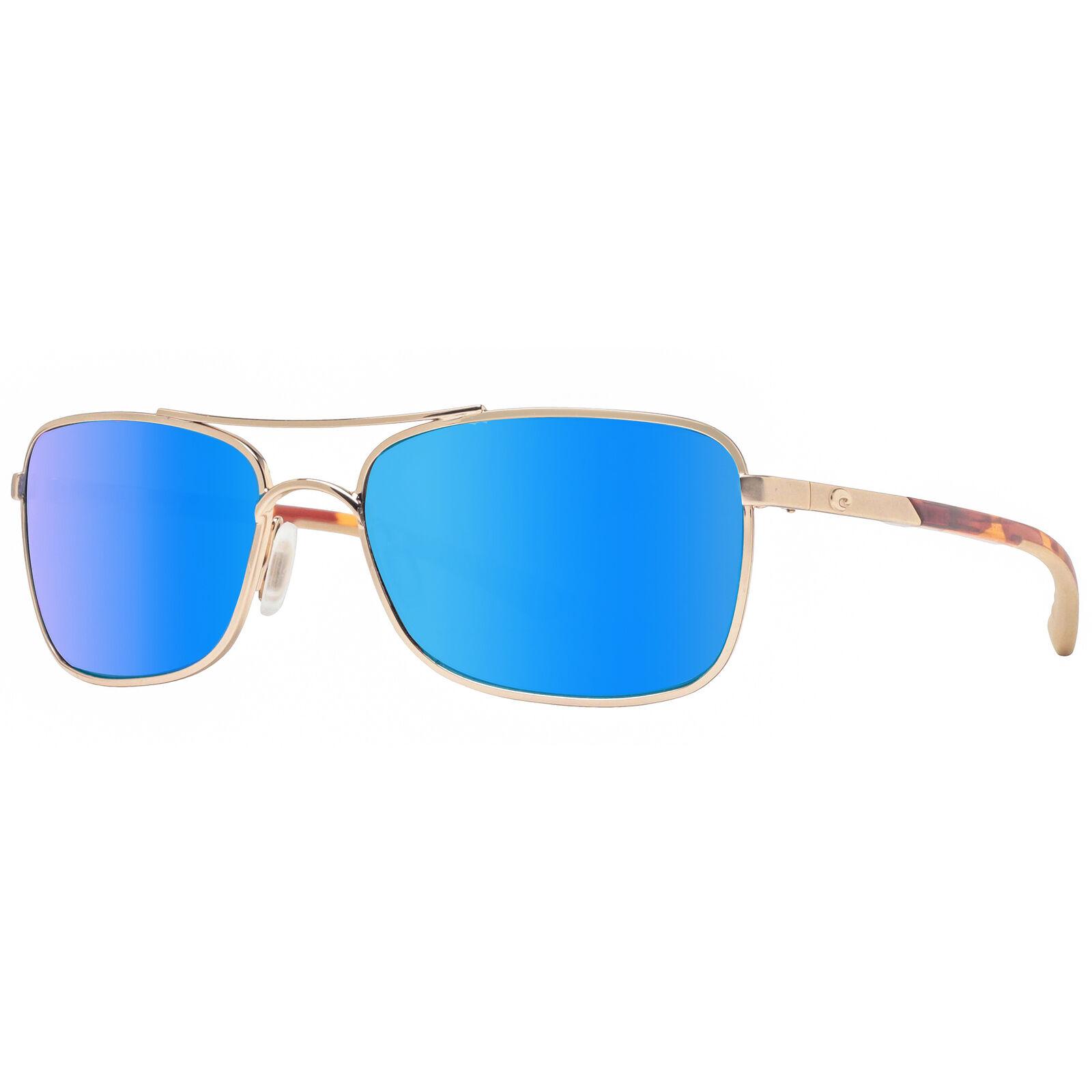 87a27bdb90 Costa Del Mar Palapa AP64 OBMGLP Rose Gold Blue Mirror Polarized 580G  Sunglasses