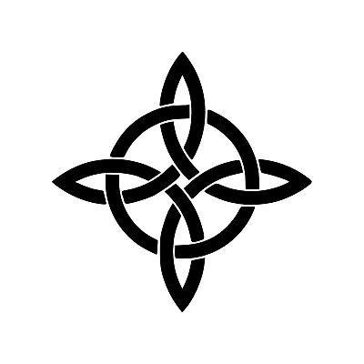 - WITCHES KNOT Vinyl Decal Sticker - Wiccan Symbol Protection Witch's Charm