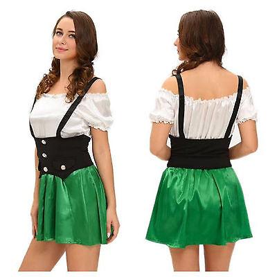 Kobold Kostüm Mädchen (St Patricks Kobold Kostüm Bayrisch Kostüm Oktoberfest Bier Mädchen Outfit)