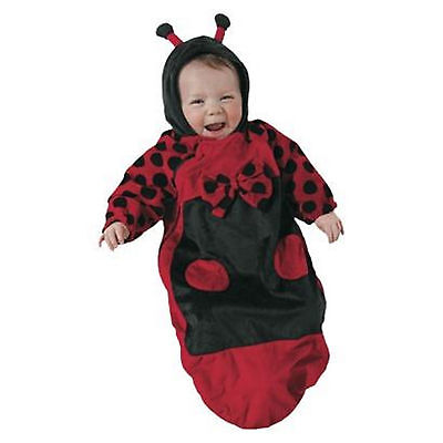 NEW LADYBUG LADY BUG Plush BUNTING HALLOWEEN Costume Infant Newborn 0m - 6m - Newborn Ladybug Costume