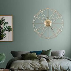 Large Modern Hollow Geometric Wall Clock Bedroom Hotel Home Indoor Luxury Decor