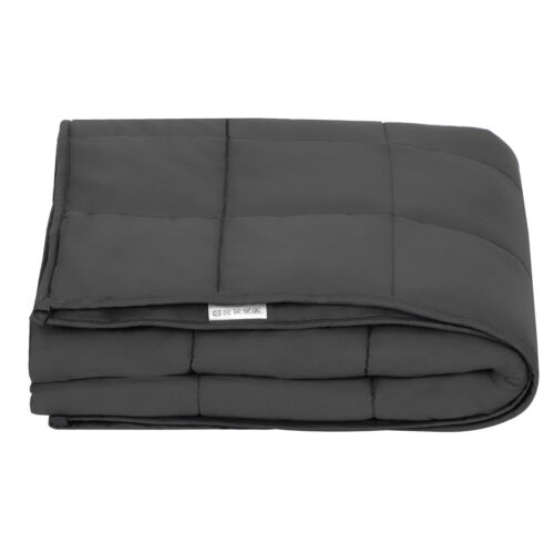 Weighted Blanket 48 x 72″,  Full/Twin Size Quality Sleeping 15lbs Promote Sleep Bedding