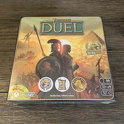 7 WONDERS DUEL ~ Award Winning 2 Player Strategy Board Game, Repos Production