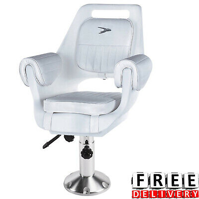 Pilot Fishing Boat Arm Chair Adjustable Seat Slide Roto Molded  Pedestal Cushion