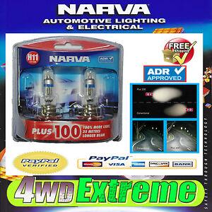 NARVA H11 GLOBES PLUS 100 PERFORMANCE 12V 55W 48349BL2 LIGHTS HEADLIGHTS