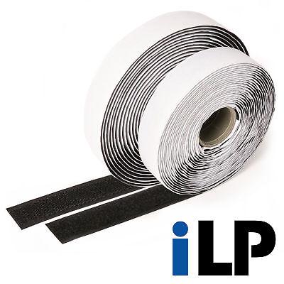 Klettband schwarz selbstklebend 10 Meter lang 20 mm breit extra starke Fixierung