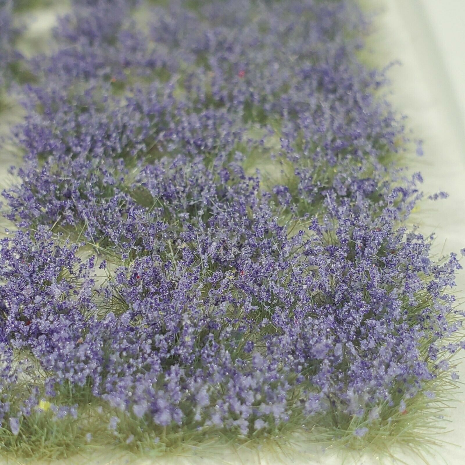 Self Adhesive Static Grass Tufts for Miniature Scenery -Lavender Wildflowers-4mm