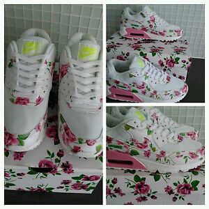 air max 90 rose floral city pack women's trainers  size 5.5 uk seller