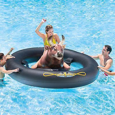 Intex Giant Inflatabull Bull-Riding Inflatable Swimming Pool Float Tube - NEW
