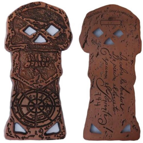 Goonies Skeleton Key Geocoin Trackable for Geocaching Unactivated Free Shipping