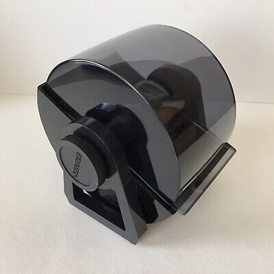 Rolodex File System W Roll Away Cover Large Card Size 4 X 2.25 Black 7 Tall
