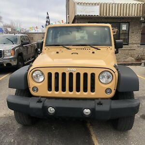 2014 JEEP WRANGLER SPORT ACCIDENT FREE ONE OWNER FINANCE AVAILAB