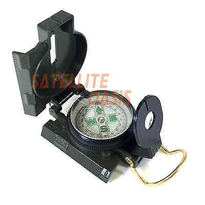 Lensatic Compass Military Camping Hiking Army Style Survival Marching Metal