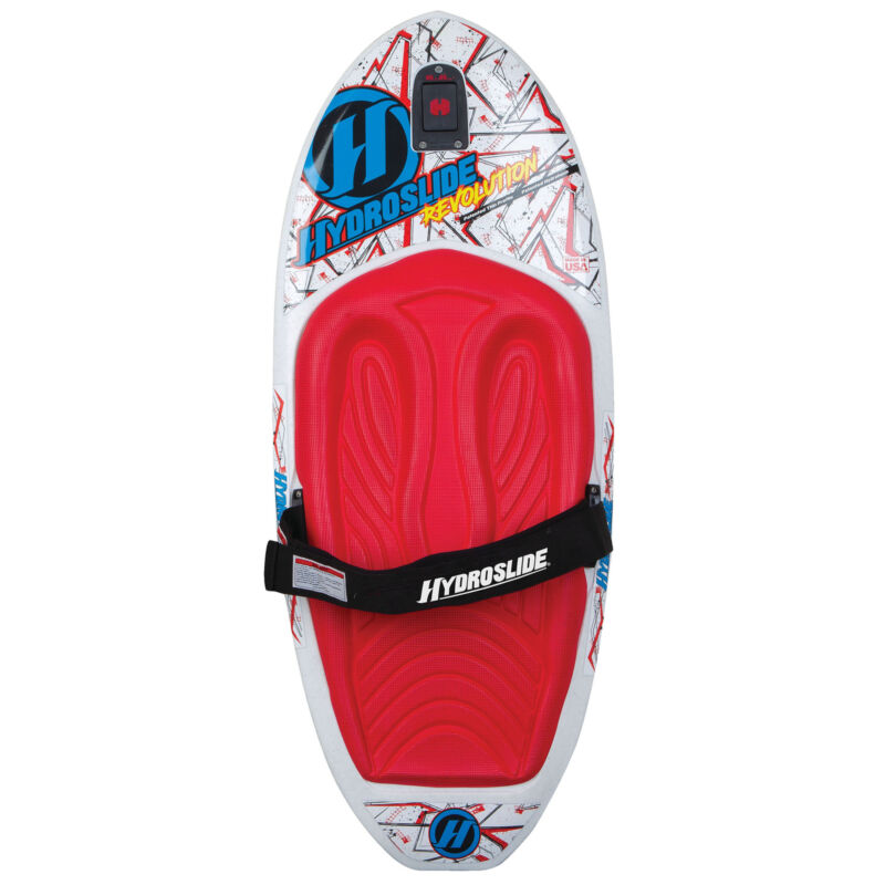 Hydroslide Revolution Water Kneeboard with Handle & Hydro Hook Tow Point, White