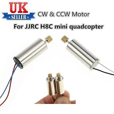 2PCS CW CCW Motor For JJRC H8C Mini Quadcopter Spare F183 Camera Engine Drone UK