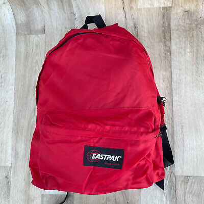 Vintage East-Pak Red Backpack Made in USA Nylon Lightweight
