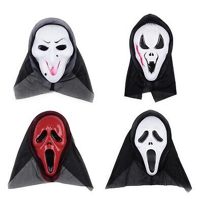 Halloween Masquerade Fancy Party Scary Scream Skull Face Grimace Mask 4 Type (Scream Halloween Party)