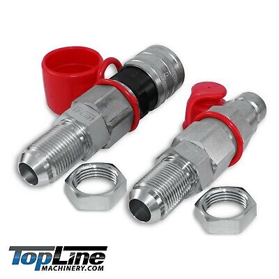 Tl25 12 Jic Flat Face 12 Body Hydraulic Quick Connect Coupler Set Skid Steer