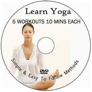 LEARN YOGA FOR BEGINNERS/INTERMEDIATES DVD-ESSENTIAL VIDEO EXCERCISE 5 ROUTINES