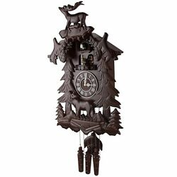 Vintage Deer Handcrafted Wood CUCKOO CLOCK with 4 Dancers Dancing with Music