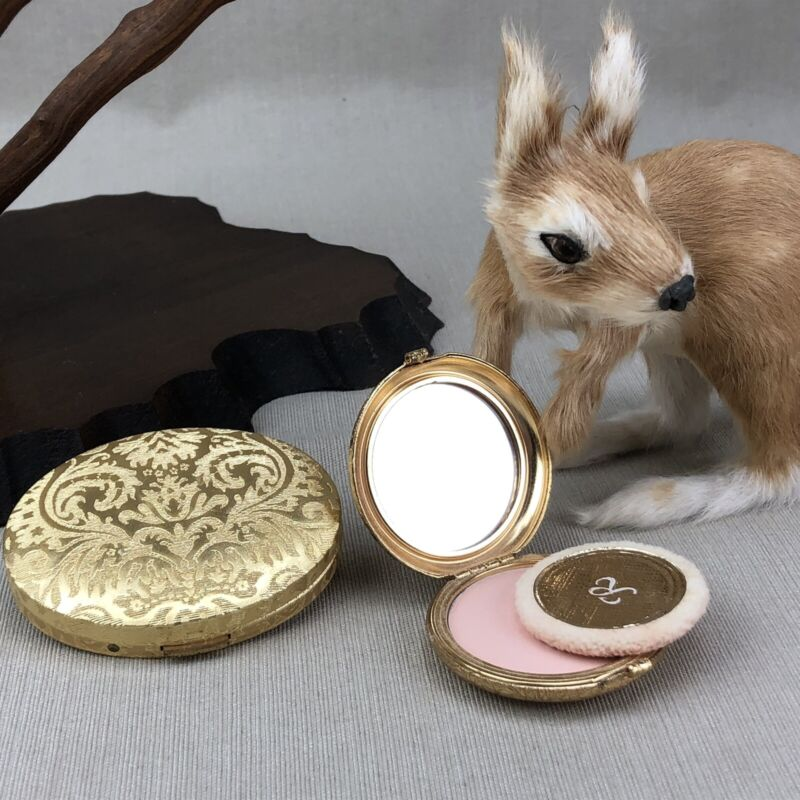 Revlon Love Pat & Avon Vintage Gold Tone Powder Blush Compact