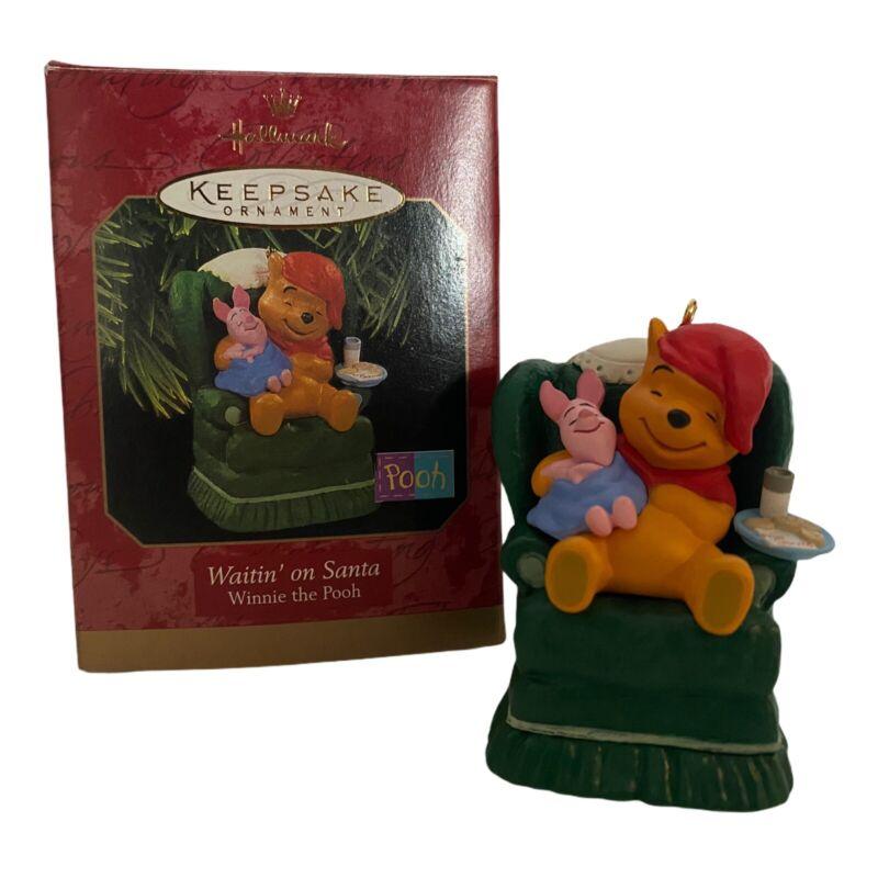 "1997 Hallmark ""Waitin' on Santa"" Winnie the Pooh, Keepsake Ornament"