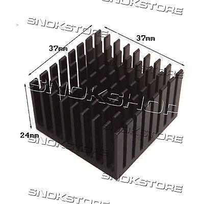 1pcs 37X37X24mm HEAT SINK ALUMINUM for LED CHIP CPU VIDEO DISSIPATORE ALLUMINIO usato  Andria