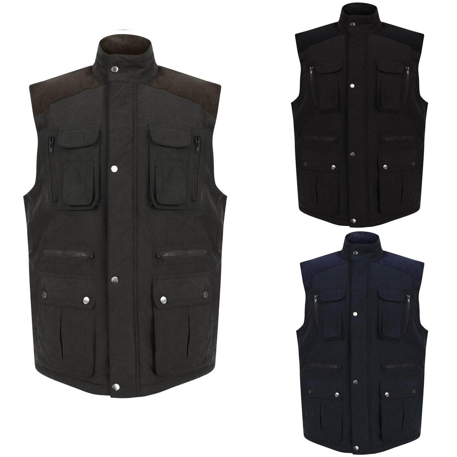 Mens Gilet Body Warmer Warm Winter Sleeveless Vest Waistcoat
