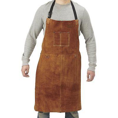Gravel Gear Leather Welding Apron - 24in. X 36in. Brown