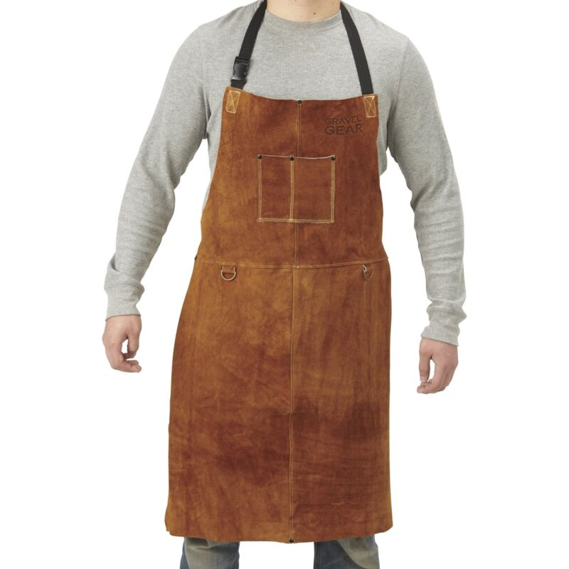 Gravel Gear Leather Welding Apron - 24in. x 36in., Brown
