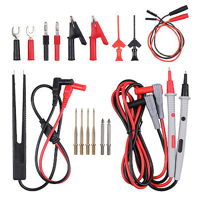Electrical Multimeter Test Lead Kit Set With Alligator Clip Test Lead Probe Plug
