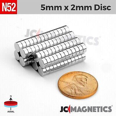 25 100 1000pcs 5mm X 2mm 316x116 N52 Strong Rare Earth Neodymium Magnet Disc