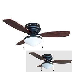 42 hugger ceiling fan ebay. Black Bedroom Furniture Sets. Home Design Ideas